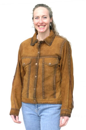Women hand tooled jackets