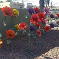 Large Metal Flowers