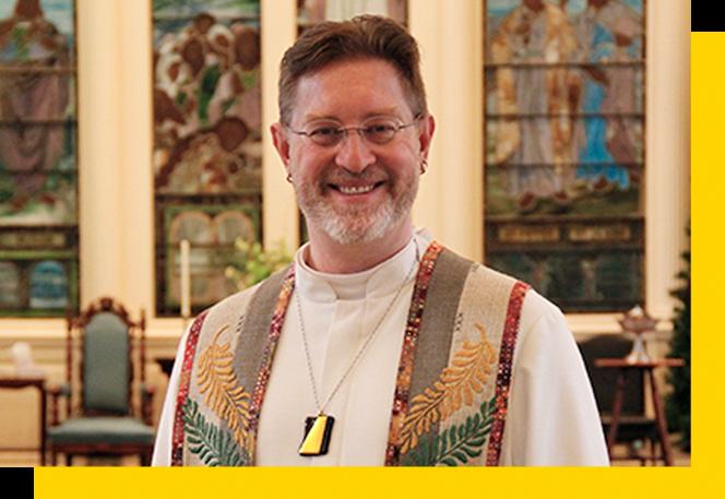 Reverend Adam Robersmith at Universalist Church of West Hartford