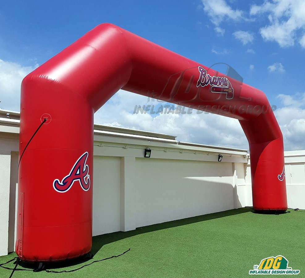 Atlanta Braves Inflatable Arch