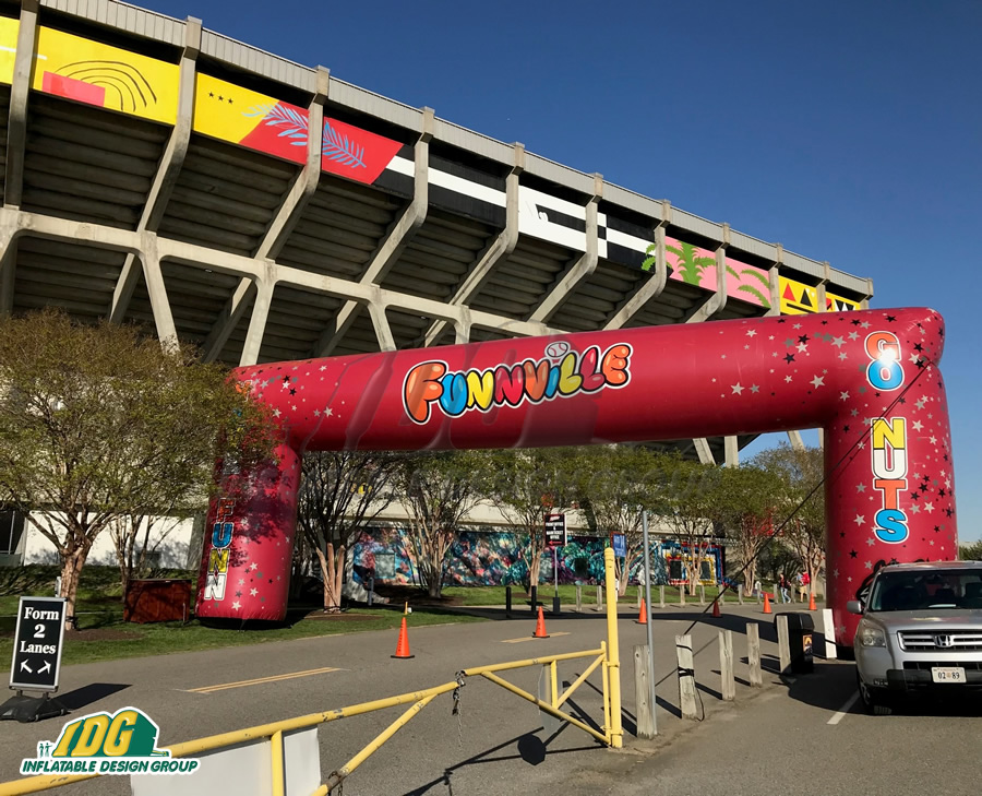 Flying Squirrels Funnville Inflatable Arch
