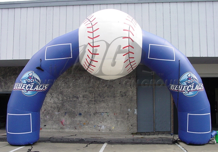 Lakewood Blue Claws Inflatable Arch