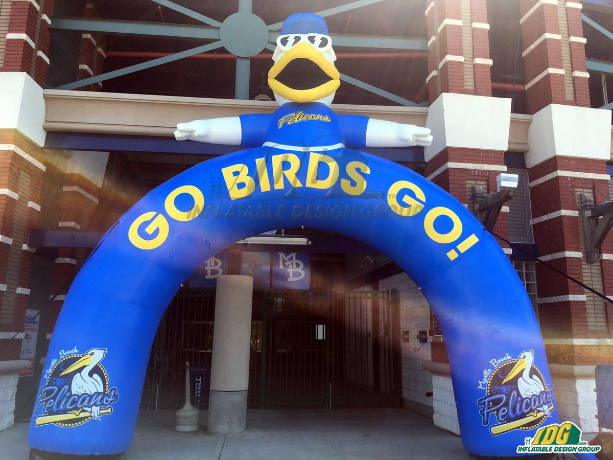 Myrtle Beach Pelicans Inflatable Arch