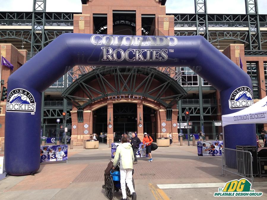 Colorado Rockies Inflatable Arch