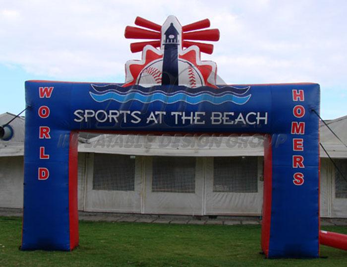 Sports at the Beach Sq Leg Inflatable Arch