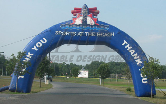 Sports at the Beach Inflatable Arch