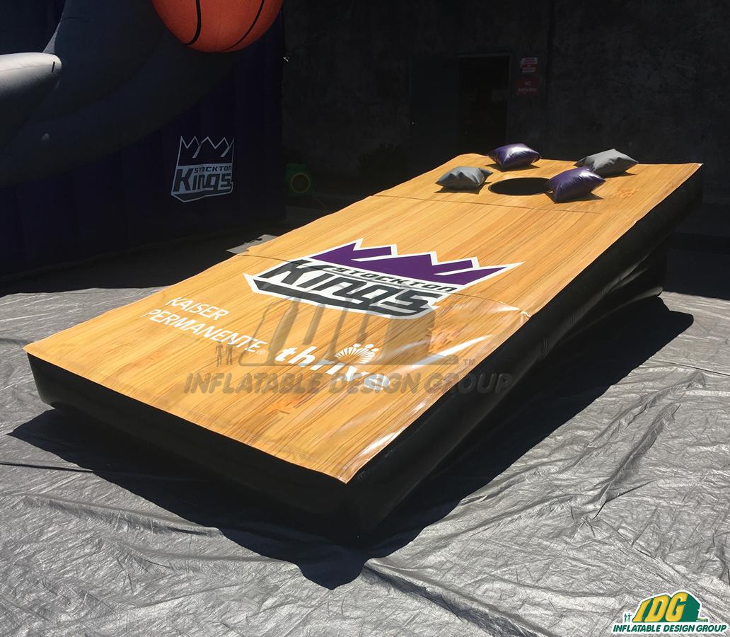 stockton kings custom inflatable corn hole