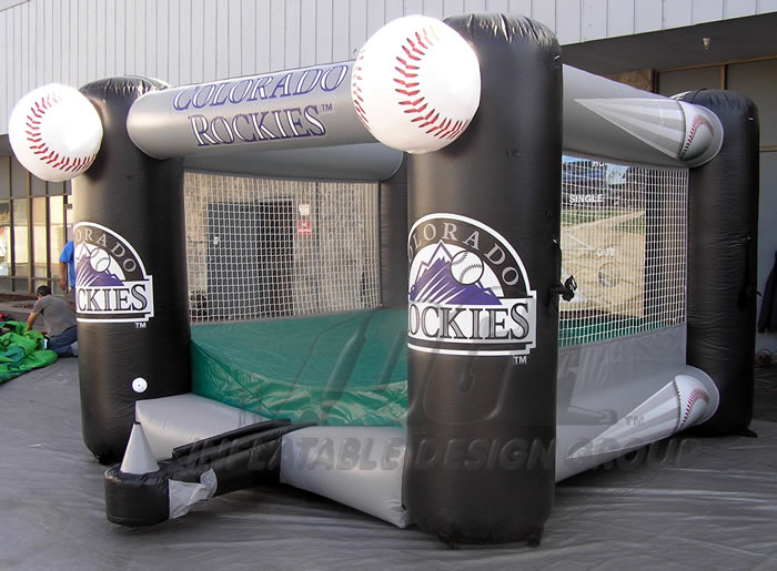 Colorado Rockies Inflatable Tee Ball