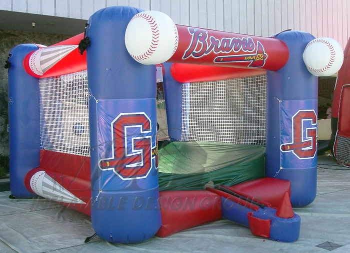 Gwinnett Braves Inflatable Tee Ball