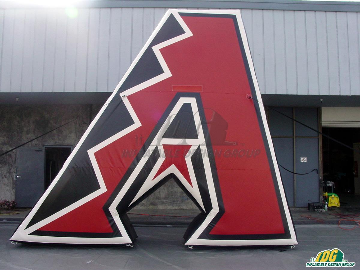 Arizona Diamondbacks Inflatable Logo Block