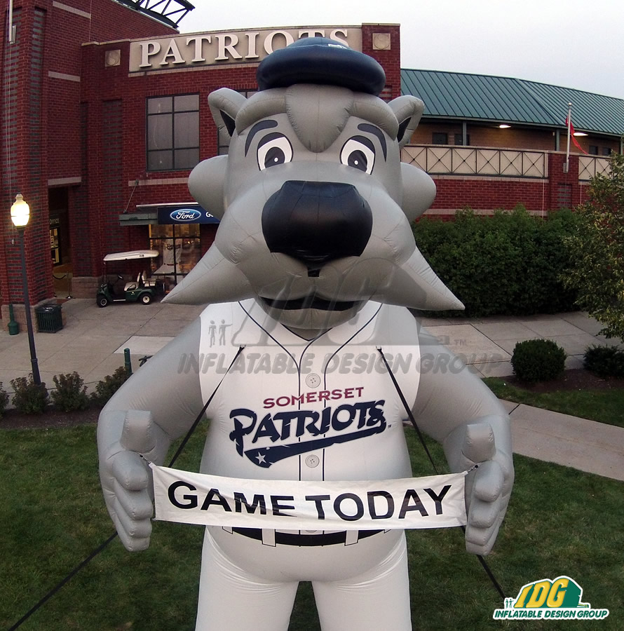 Somerset Patriots Inflatable Mascot