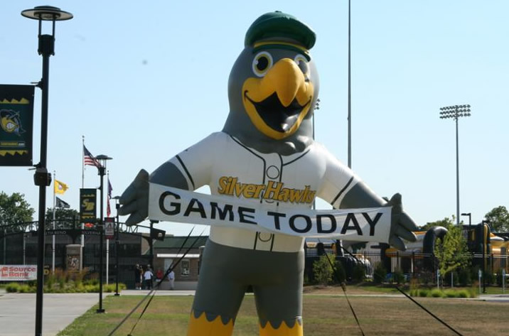 South Bend Silver Hawks Mascot