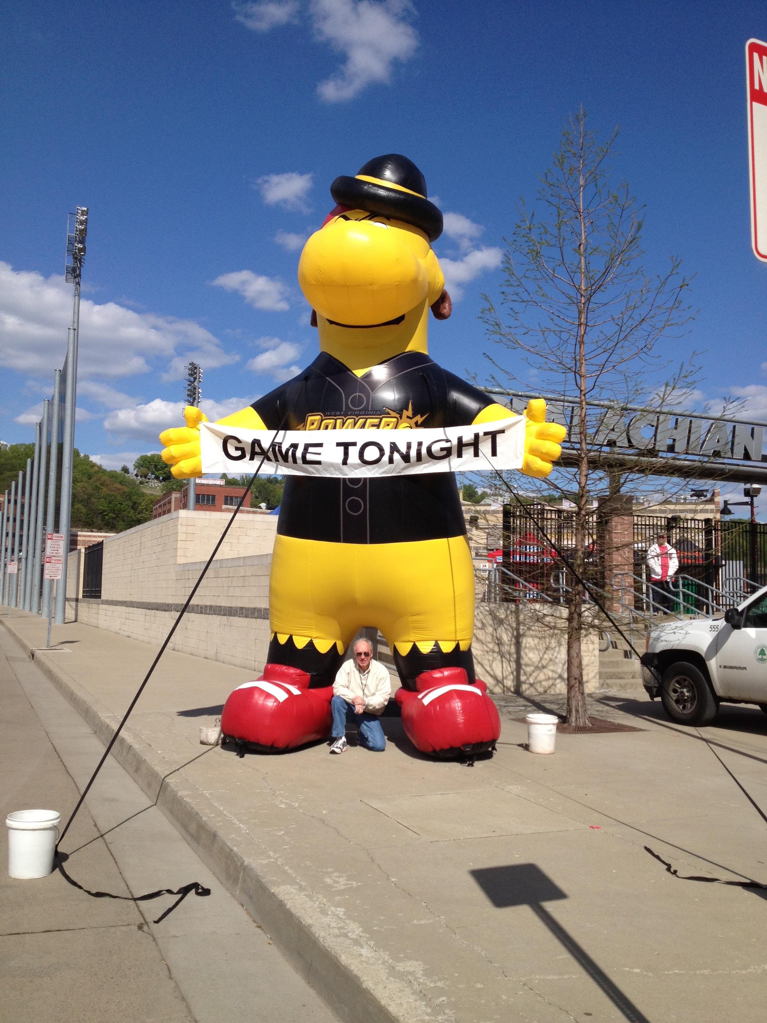 West Viginia Power Inflatable Mascot