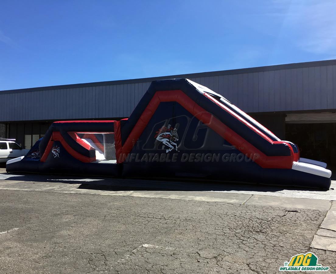 Binghampton Rumble Ponies Inflatable Obstacle Slide