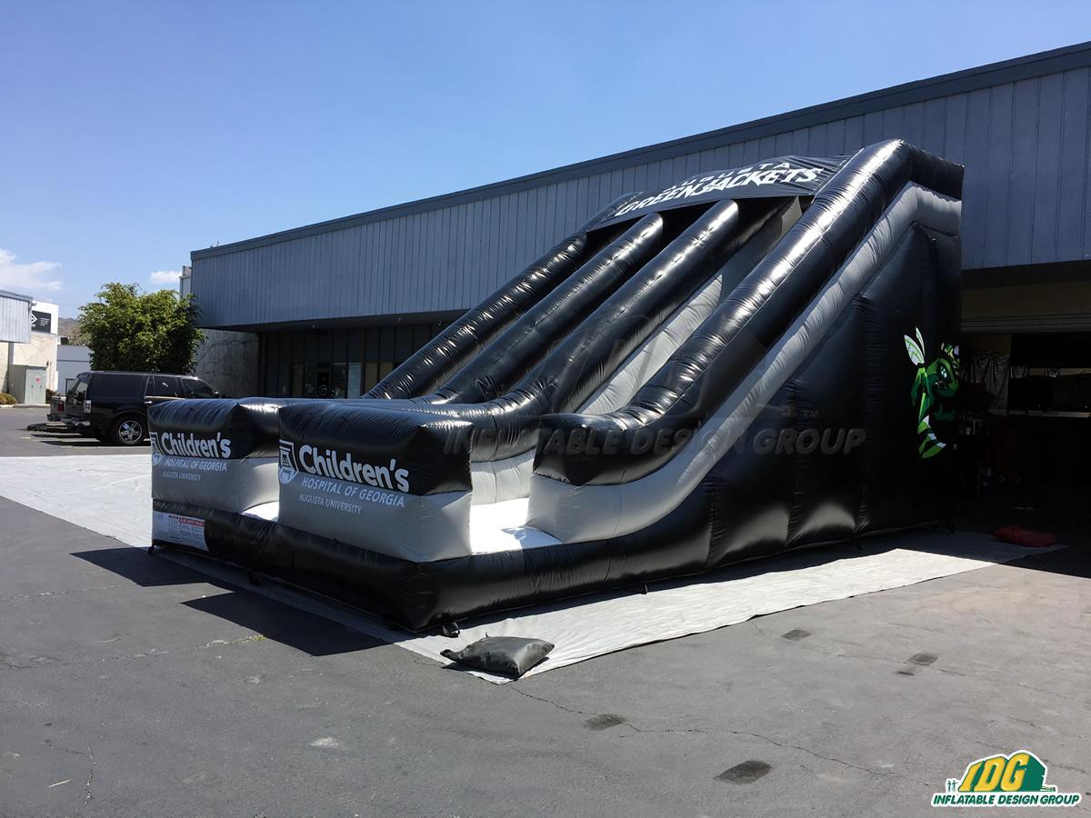 Augusta Green Jackets Inflatable Baseball Slide