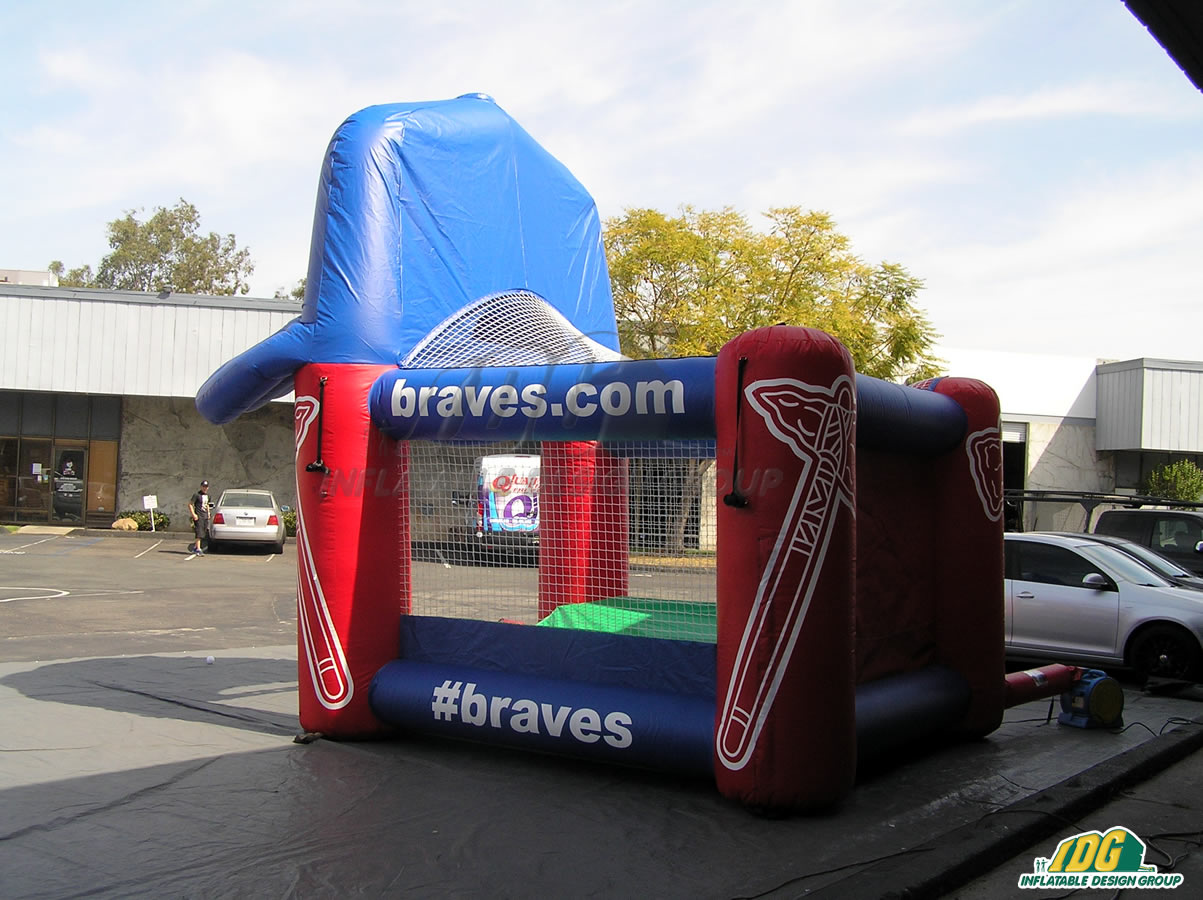 Atlanta Braves Inflatable Tee Ball With Cap