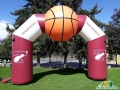 custom inflatable basketball archway