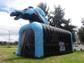 Inflatable Blue Mustang Tunnel