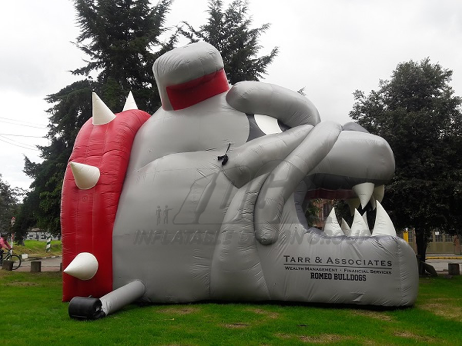 Inflatable Bulldog Entryway Side View