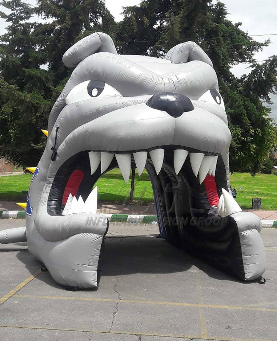 Inflatable Bulldog Head Front View