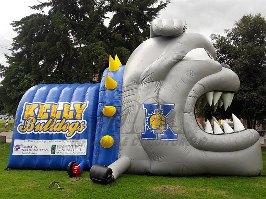 Inflatable Bulldog Tunnel