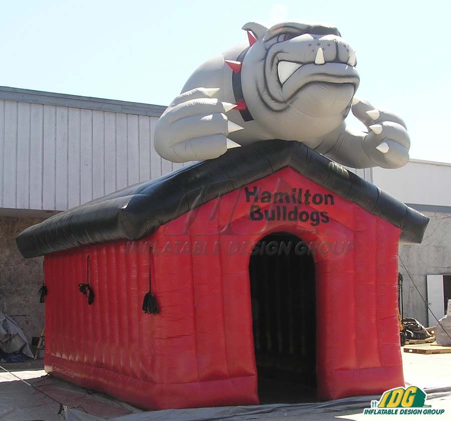Inflatable Red Doghouse Entryway
