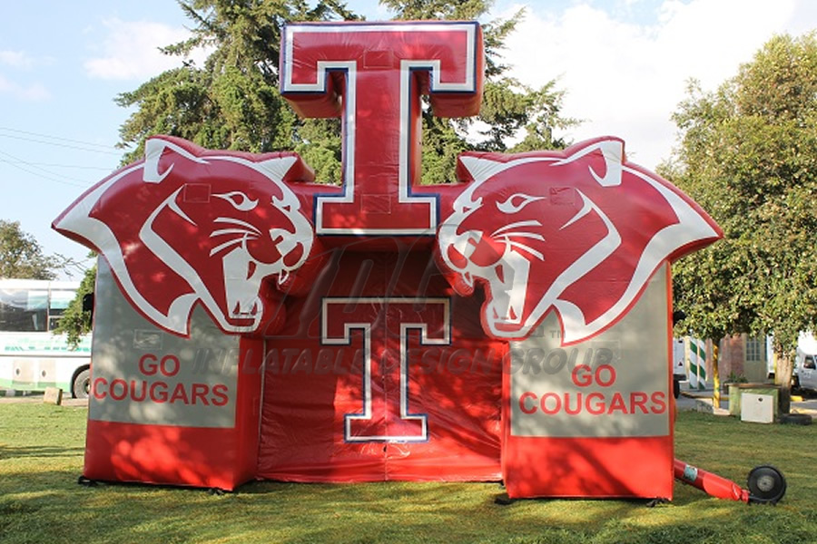 Inflatable Cougar Face Tunnel