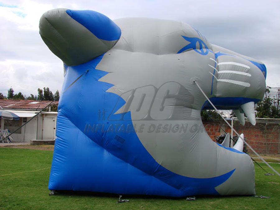 Inflatable Cougar Head Side View
