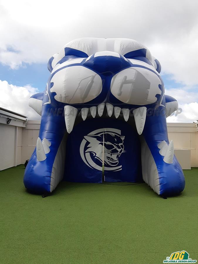 capital hs custom inflatable cougar entryway