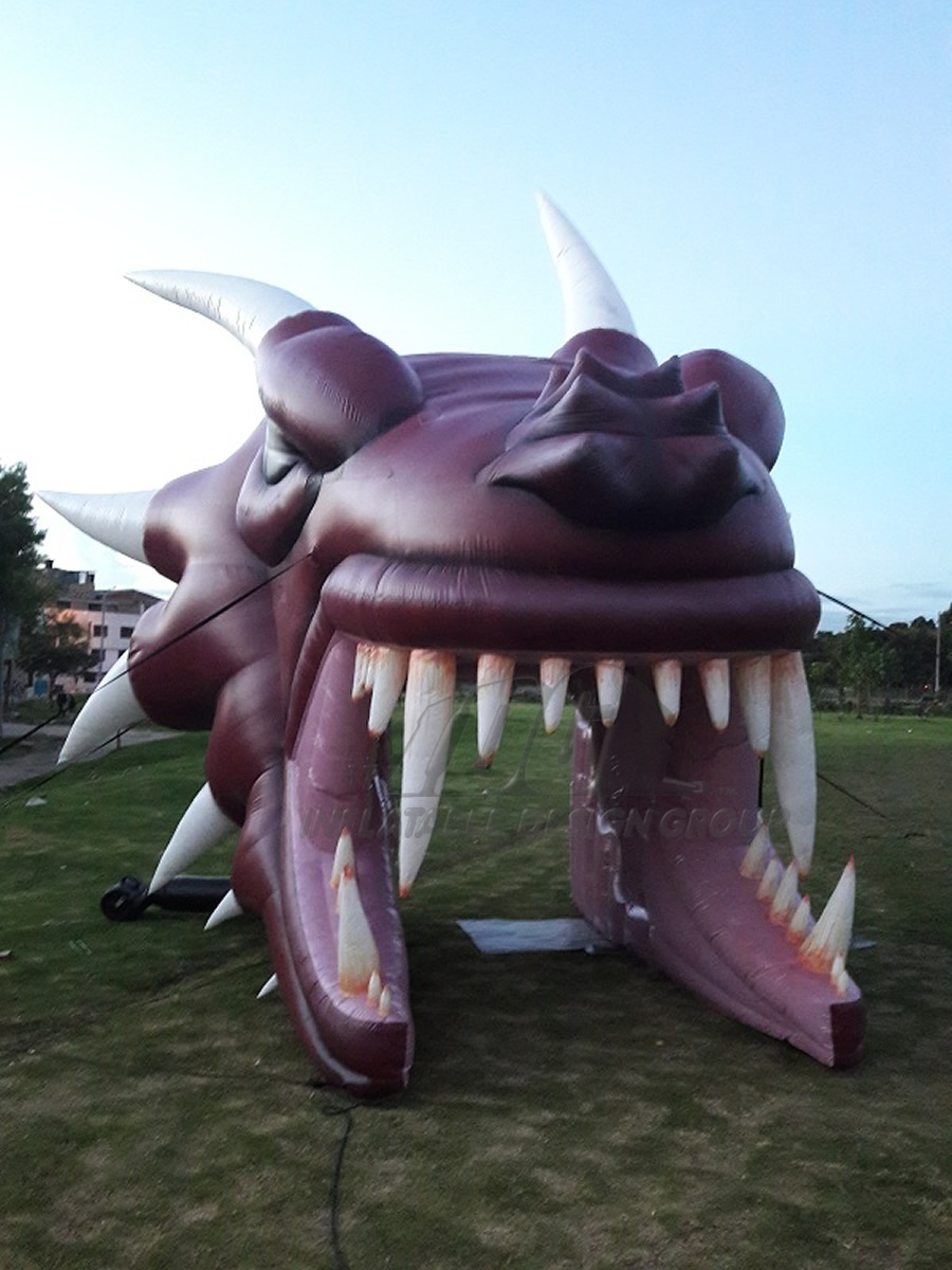 Inflatable Dragon Head Front