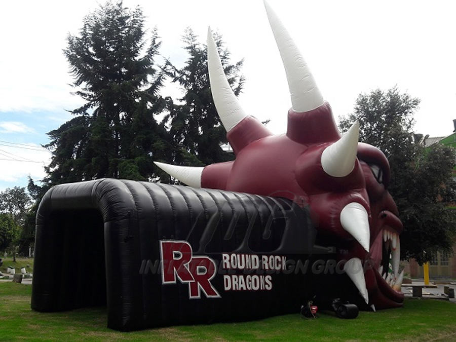 Inflatable Dragon Head Tunnel Rear
