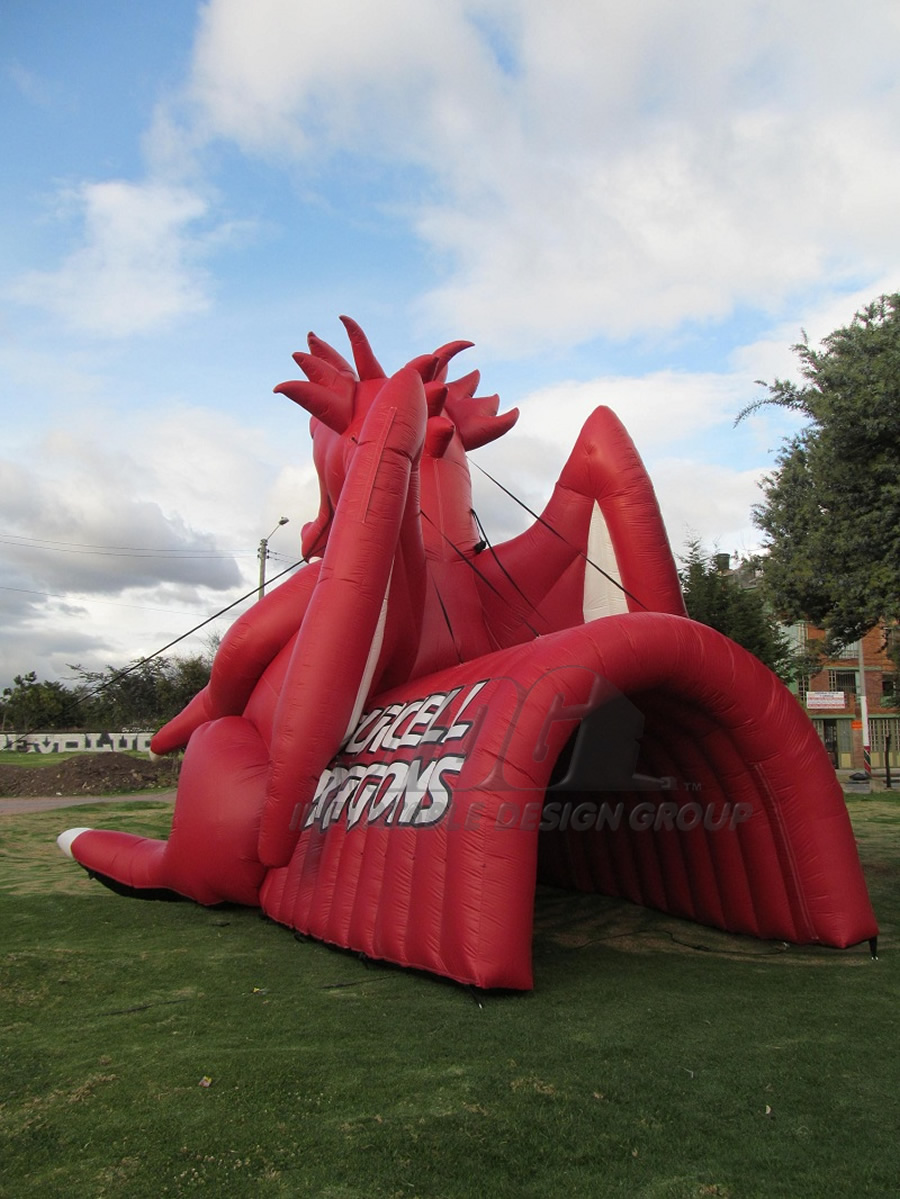 Inflatable Dragon Tunnel Rear View