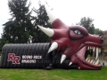 Inflatable Dragon Head Tunnel