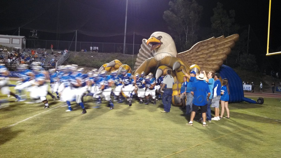 Inflatable Eagle Football Field