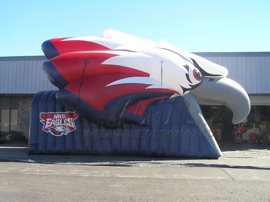 Inflatable Eagle Head Tunnel