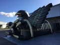 Inflatable Eagle Entryway Side View