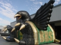 Inflatable Birdville Hawks Mascot Tunnel