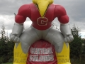 Inflatable Central Falcons Custom Standing Mascot Tunnel