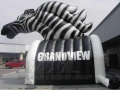 Inflatable Grandview Zebra Mascot Tunnel