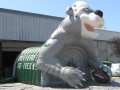 Inflatable Ponderosa Custom Bear Mascot Tunnel