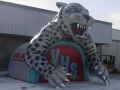 Inflatable Valencia Jaguar Custom Mascot Tunnel