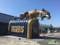 high school entryway tiger Mascot Tunnel