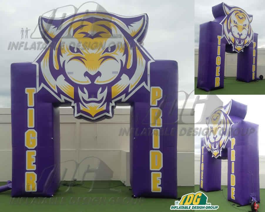 Inflatable-Custom-Arch-Benton-Tigers-Pride