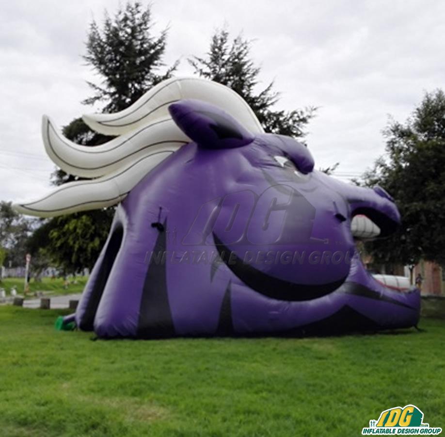 Fulshear Custom Inflatable Broncos Entryway