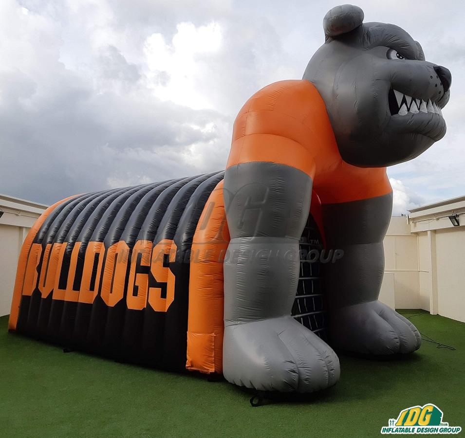 Orange Grove Custom Inflatable Bulldogs Entryway