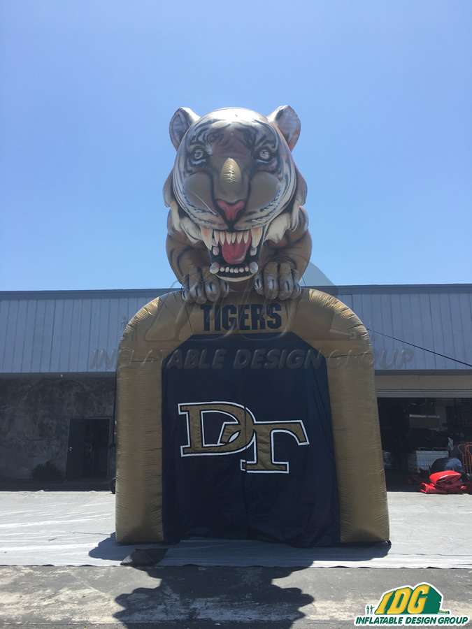 Delano Custom Inflatable Tigers Entryway
