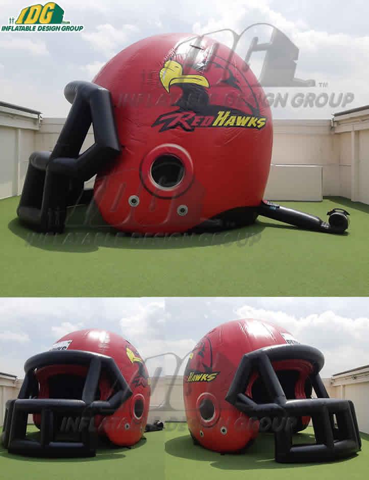 Red Hawks High School Custom Inflatable Football Helmet