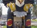 Hawks custom slap shot side