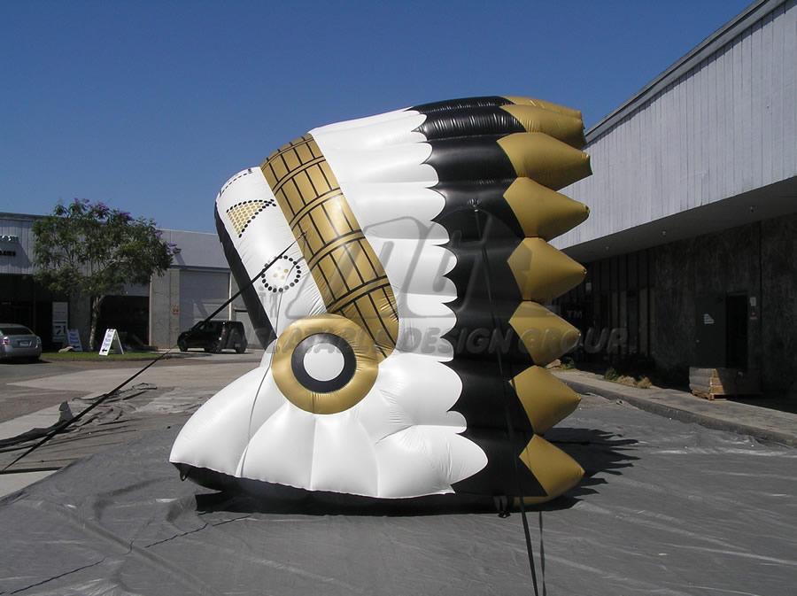 Inflatable Gold Braves Headdress