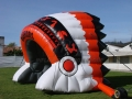 Inflatable Red Headdress Side View
